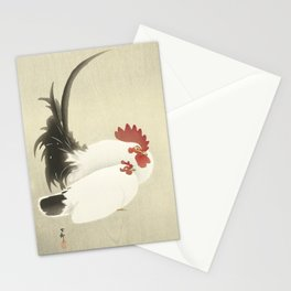 Rooster Vintage Japanese Woodcut Stationery Cards