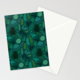 PNW Forest in Emerald Green Stationery Cards