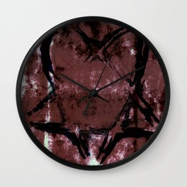 Skull N' Bones Flavor Heartagram Wall Clock