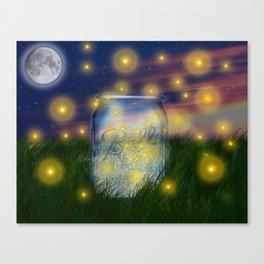 Summer Fireflies Canvas Print
