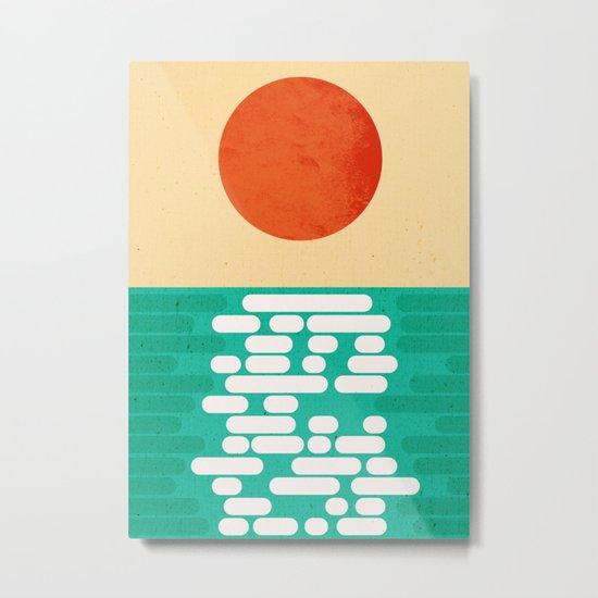 Sun over the sea Metal Print