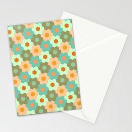 Retro flowers pattern II Stationery Cards