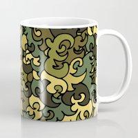 military Mugs featuring Military pattern. by Julia Badeeva