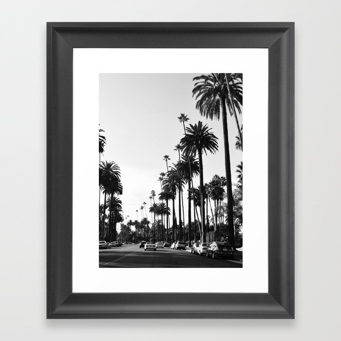 Los Angeles Black and White Gerahmter Kunstdruck