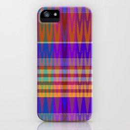ginger IKAT madras iPhone Case