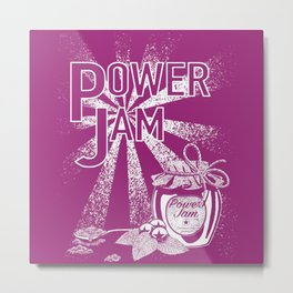 Power Jam graphic Metal Print