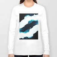 teal Long Sleeve T-shirts featuring Teal Isolation by Stoian Hitrov - Sto
