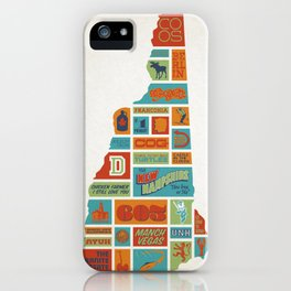 New Hampshire quilt-style screenprint iPhone Case