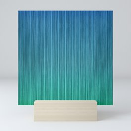 Tropical Island Aqua Blue Beach Hut Mini Art Print
