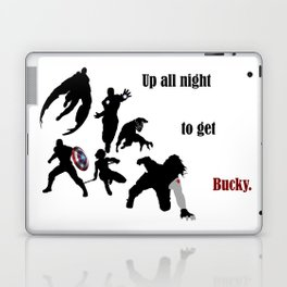 Up All Night To Get Bucky Laptop & iPad Skin