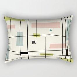 Mid Century Art Bauhaus Style Pastel Rectangular Pillow