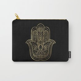 Lotus Gold Hamsa Hand Carry-All Pouch
