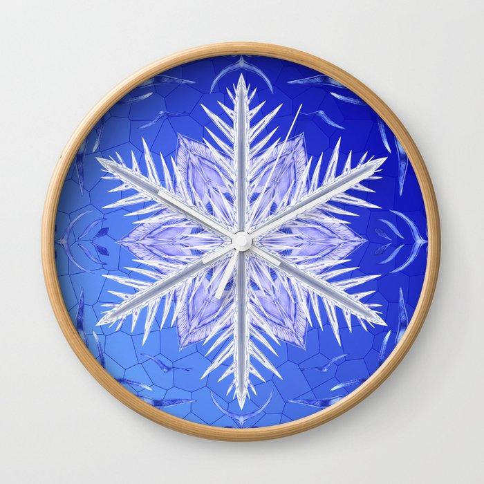 Snowflake Pattern - Bladed Sky Wall Clock