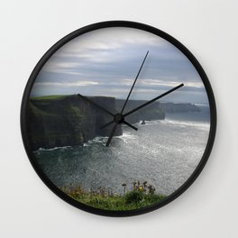 Sun Coming out over Cliffs of Moher Wall Clock