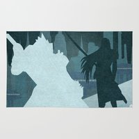 final fantasy Area & Throw Rugs featuring Vector Final Fantasy VII by LoweakGraph