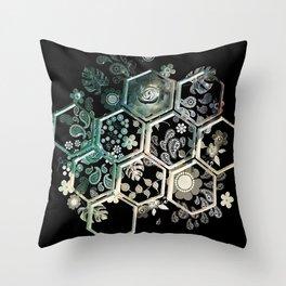 Black Hexagon Throw Pillow
