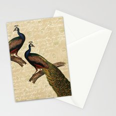 Cream Peacock Stationery Cards