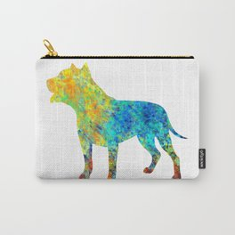 Pit Bull Dog Watercolor Art Carry-All Pouch