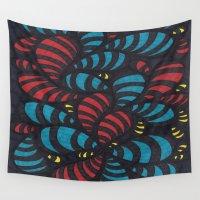 bugs Wall Tapestries featuring Glow Bugs by Sarah J Bierman