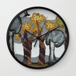 Autumnal Grove Wall Clock