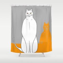 Cat sarcophagus Shower Curtain
