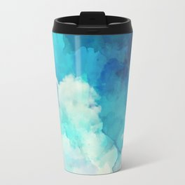 Absract Watercolor Clouds Travel Mug