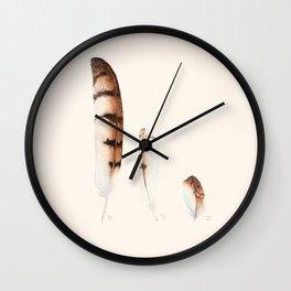 Feathers | Barn Owl | Watercolor Wall Clock