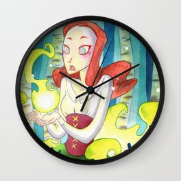 Amandine in the wood Wall Clock