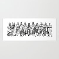 philosophy Art Prints featuring Philosophy by Pasty Creative