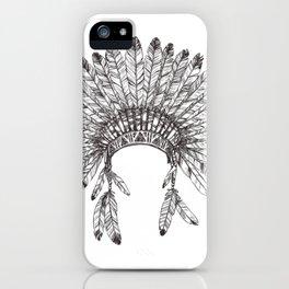 Native Chief headdresses  iPhone Case