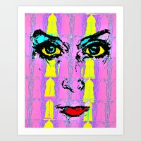 psychology Art Prints featuring Pop Psychology by Keith Cameron