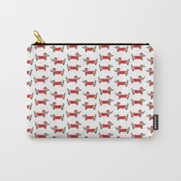 Christmas dachshund pattern Carry-All Pouch