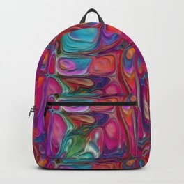 Abstract Paint Colors Backpack