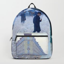 Gustave Caillebotte Paris Street Rainy Day Backpack