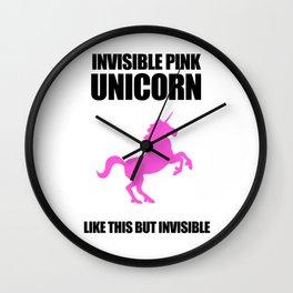 Invisible Pink Unicorn Wall Clock