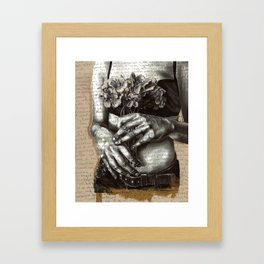Repent and Give Framed Art Print