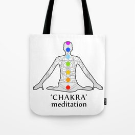 The seven chakras with their names Tote Bag