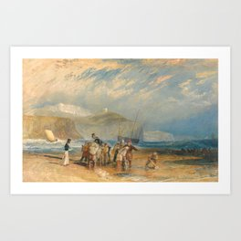 "J.M.W. Turner ""Folkestone Harbour and Coast to Dover"" Art Print"