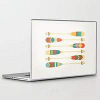 rowing Laptop & iPad Skins featuring Summer Lake by Picomodi