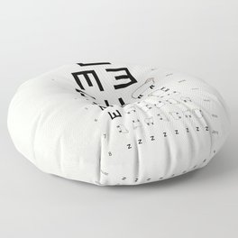 The EWE Chart Floor Pillow