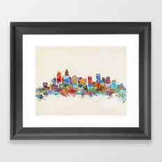 Charlotte North Carolina skyline Framed Art Print
