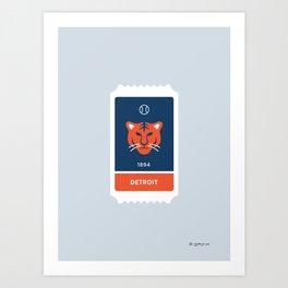 Detroit Baseball Ticket (30 of 30) Art Print
