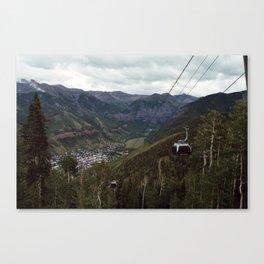 Telluride gondolas Canvas Print