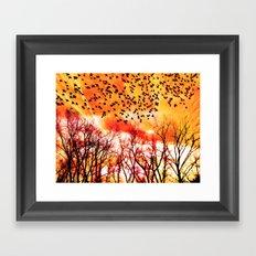 OCTOBER DAWN Framed Art Print