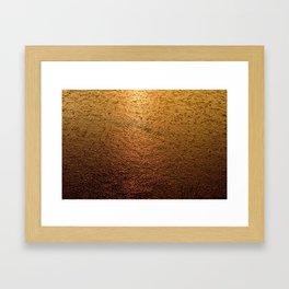 Lagoon in rain  Framed Art Print