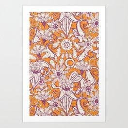 sarilmak tangerine damson Art Print