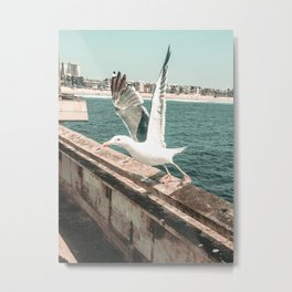 Seagull Taking Flight // California West Coast Pier Vibes Beach Ocean Surf City USA Metal Print