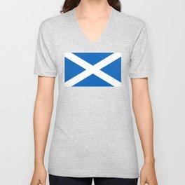 Flag of Scotland - Scottish flag Unisex V-Neck