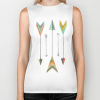 arrows Biker Tanks featuring Arrows by Hayley Lang
