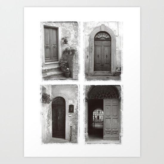 Doors of Rome Art Print